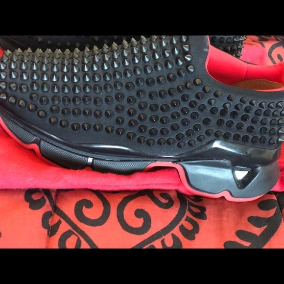 Slip on spike sock sneaker